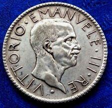 MONNAIE 20 LIRE VICTOR EMMANUEL III 1928 R EN ARGENT   ITALIE