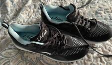 womens L A Gear tennis shoes ultra foam size 7.5 black/blue Nwot