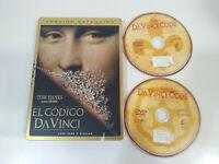 EL CODIGO DA VINCI Tom Hanks - 2 x DVD Steelbook Español English