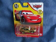 RARE DISNEY PIXAR CARS 3 GOLDEN MCQUEEN EDITION SPECIALE OR METAL LIRE ANNONCE