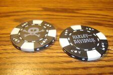#1 Harley Davidson Poker Chip Skull & Crossbones Golf Ball Marker, Card Guard  B