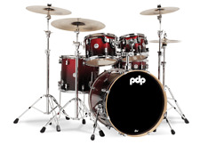 PDP by DW Shellset Concept Maple CM5 Red to Black Sparkle Schlagzeug Drumset