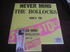 SEX PISTOLS NEVER MIND BOLLOCK JAPAN RARE OBI CD + 30TH ANNIVERSARY LP/POSTER+