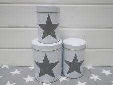 Vorratsdosen Star weiß Hochformat 3er Set