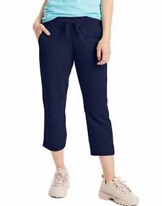 Hanes Women French Terry Capri Pant Pocket Drawstring Waist Versatile Activewear