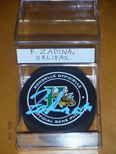 Filip Zadina Authentic Autographed Halifax Mooseheads Puck !!!