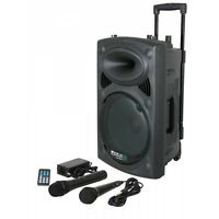 "IBIZA SOUND PORT8 400W 8"" PORTABLE BATTERY BLUETOOTH PA SPEAKER USB MP3 + MICS"
