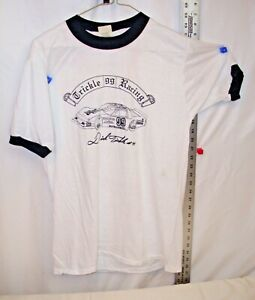 DICK TRICKLE #99 PABST BLUE RIBBON VINTAGE T SHIRT LARGE IN WHITE