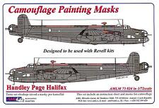 AML Models 1/72 HANDLEY PAGE HALIFAX Camouflage Paint Mask Set