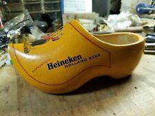 Vintage Heineken Wooden Shoe (Left)