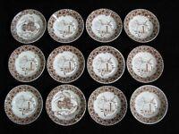 "Set of 12 Copeland Ironstone Aesthtic ""Cairo"" Pattern Bowls"