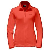 Jack Wolfskin Womens Kiruna Full Zip Jumper Outdoor Fleece Jacket Red MEDIUM