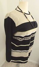 Sweater Liz Claiborne Sz 1 (1X) Emma James Pullover Striped Sweater   #111