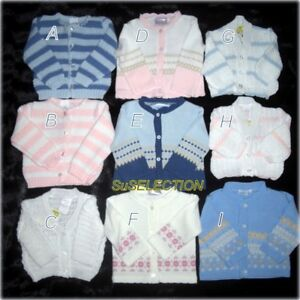 BABY BOY GIRL CARDIGAN 0/12 MONTHS-LOVELY COLOURS IN VARIOUS DESIGNS- NEW