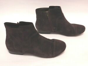 Clarks Collection Women's Casual Plum Suede Zipped Flat Ankle Boots Booties UK 6