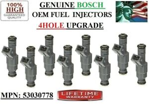 8 Fuel Injectors for 1996-99 Dodge Ram 1500 5.2-5.9L V8 4HOLE UPGRADE OEM BOSCH