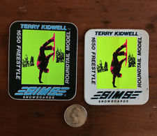 2 VTG SIMS TERRY KIDWELL SNOWBOARD STICKERS  authentic 1980's  skateboard