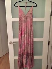 MICHELLE JONAS JERSEY BRA TOP MAXI DRESS SIZE SMALL IN MYSTIQUE PINK