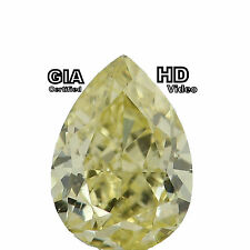 GIA CERTIFIED 0.52 Cts Natural Loose Diamond Fancy Yellow Pear Shape L6891 Bkk