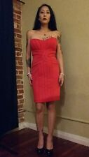 red babe knee length pencil dress size medium