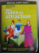 JAMES VAN DER BEEK JESSICA BIEL Rules of attraction Bret Easton Ellis drame DVD