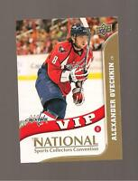 Alexander Ovechkin  Upperdeck 2010 National Sports Convention Card # VIP-1