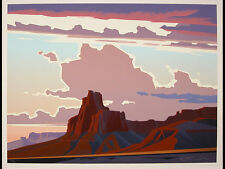 "ED MELL ""Red Butte"" Hand-Signed & Numbered Original Serigraph"