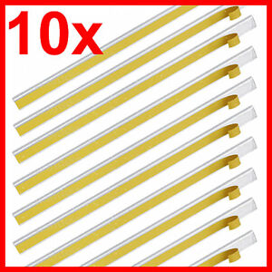 10 Klemmschienen selbstklebend, transparent, Füllhöhe 3mm für 30 Blatt, DIN A4