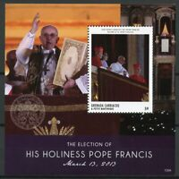Grenadines Grenada Pope Francis Stamps 2013 MNH Election His Holiness 1v S/S