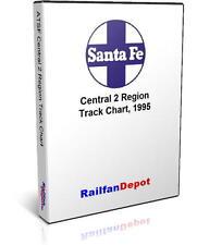 Santa Fe Track Chart Central Region 2 1995 - PDF on CD - RailfanDepot