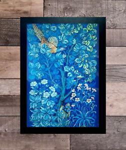 William Morris print (blue) A3 framed 14x18.5 inch