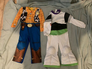 Disney Pixar Toy Story 3-4 Years Buzz Lightyear & Woody Dressing Up Costumes.