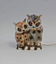 Porcelana figura rauchverzehrer lechuza lechuzas par Wagner & Apel 13x9x16cm 9942738