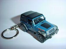 NEW 3D BLUE 2010 JEEP WRANGLER MOUNTAIN CUSTOM KEYCHAIN keyring key 4x4 offroad