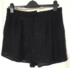 NEW TOPSHOP Sz 12 black shorts beaded gathered evening party holiday BNWT RRP£42