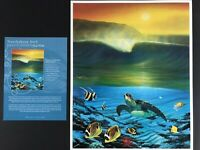 Wyland collector's edition print 11x14 signed estate sale find Northshore Surf