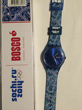 Swatch Special 'Bosco Blue' New Gante suon 701e Sochi Olympic wintergames 2014