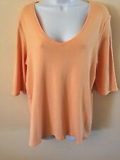 EILEEN FISHER KNIT TOP XL Tangerine