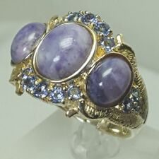 HSN 925 Sterling Silver Violet Opal & .7 ct Tanzanite Ring Size 9