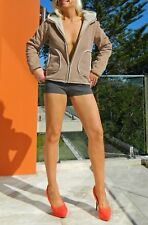 VINTAGE Funky Surfy Hip Corduroy Distressed Retro Hooded Jacket