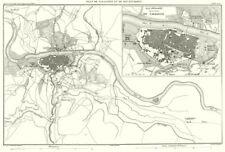 España. plan DE SARAGOSSE et alrededores. Zaragoza Zaragoza 1859 Antiguo Mapa Antiguo