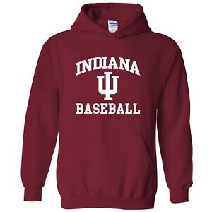 Indiana Hoosiers Arch Logo Baseball Hoodie - Cardinal