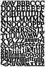 Scrapbooking Crafts Kf Stickers Headline Black Alphabet Letters Small Capitals