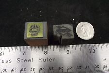 2 VINTAGE LETTER PRESS PRINT BLOCK  SHELL GASOLINE AND SUNOCO
