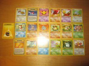 Pokemon VINTAGE BASE JUNGLE ROCKET common uncommon lot bulk 19 x cards