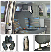 VW T6,T5 California Ocean Tailored Seat Covers Front & Rear Set INKA second skin