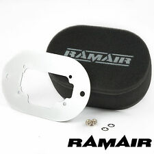 RAMAIR Performance Carburador Espuma Filtros De Aire Placa Base Weber 32/36 DGEV