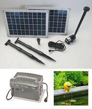 20 w solaire étang insufflation d/'oxygène pompe de jardin étang étang insufflation pompe NEUF
