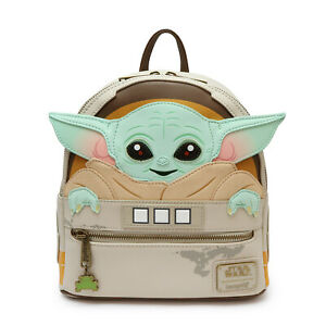 Hot LOUNGEFLY X Star Wars Mandalorian Baby Yoda Schoolbag Backpack