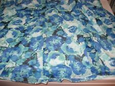 WOMENS SKIRT SIZE 2X  3X BLUE ROSES  CHIFFON SKIRT LINED RETAIL $44.00 NEWWTAGS